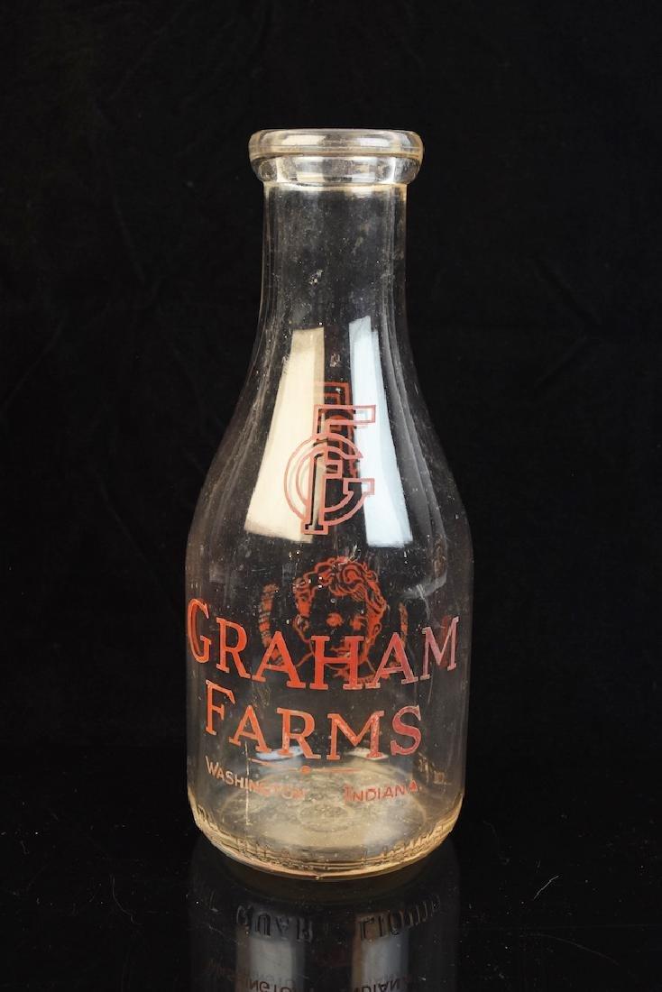 Graham Farm Glass Milk Bottle