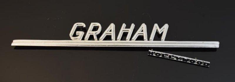 Graham Hollywood & Trunk Lid Emblem