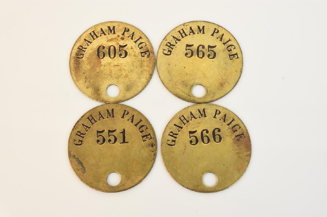 (4) Graham-Paige Tool Check Tags