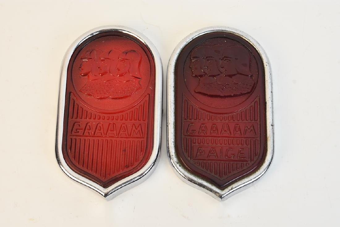 (2) Graham-Paige Tail Light Lenses