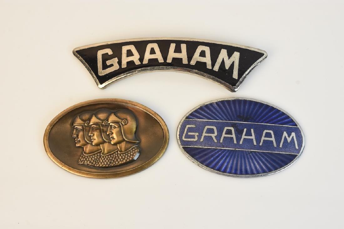 (3) Graham Blue Streak Emblems