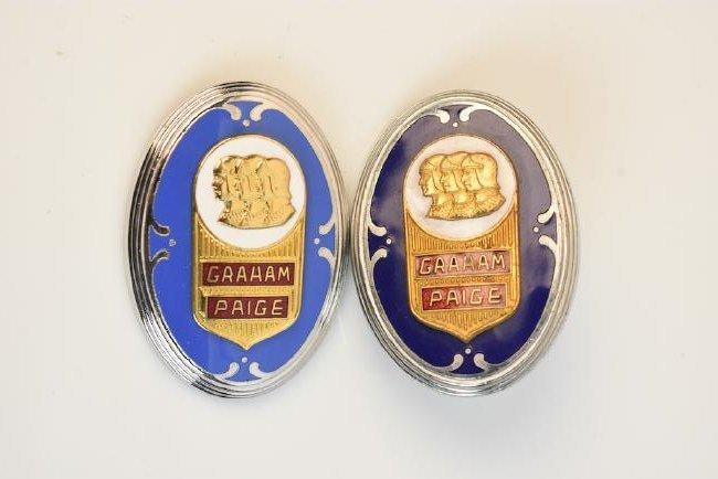 (2) Graham-Paige 8 Cylinder Limo Emblems