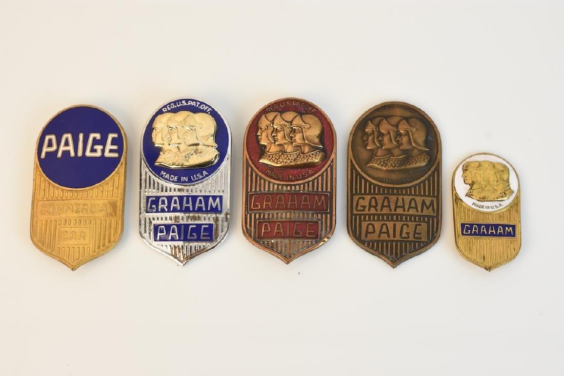 (5) Graham-Paige Radiator Emblems