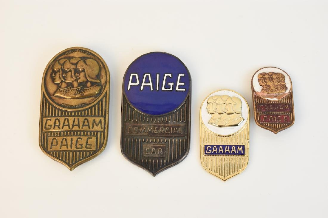 (4) Graham-Paige Radiator Emblems