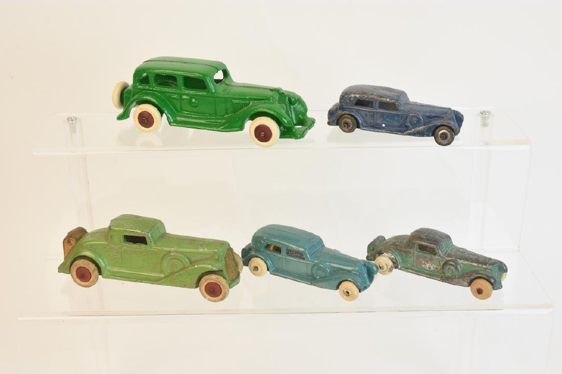 (5) Die Cast Graham-Paige Metal Toy Cars