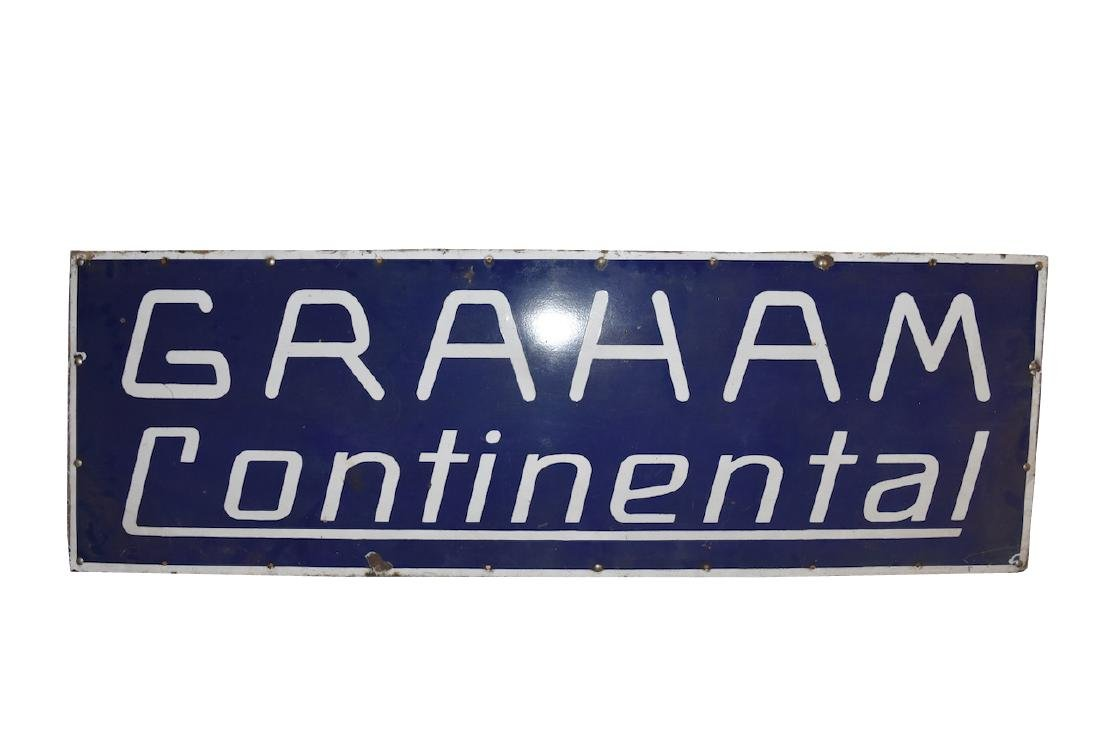 Graham Continental Porcelain Sign, 6' x 2'