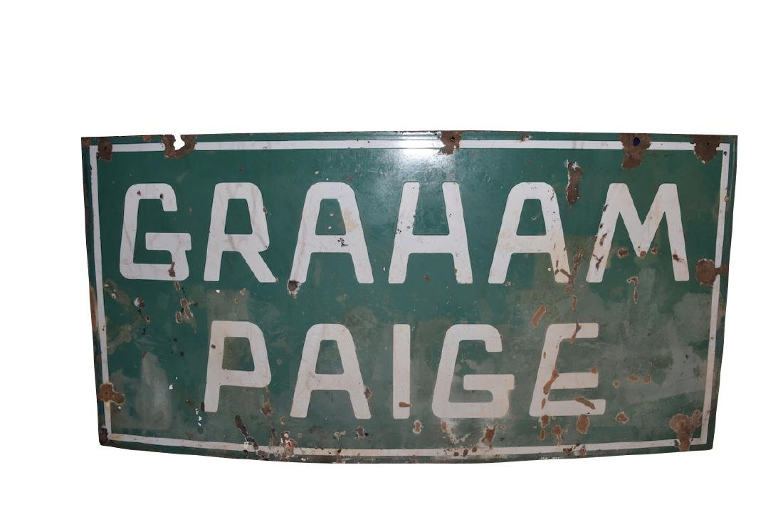 Graham Paige Double Sided Porcelain Sign, 4' x 2'