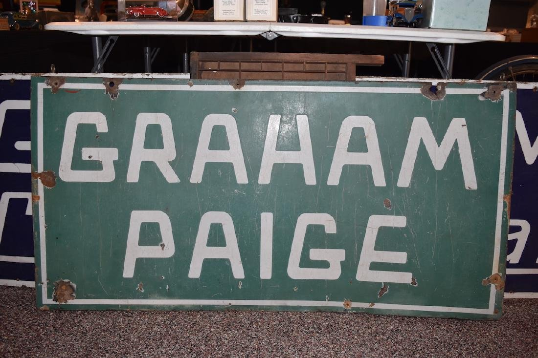 Graham Paige Double Sided Porcelain Sign, 4' x 2' - 2