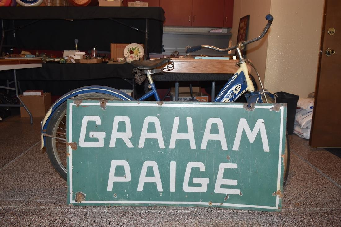 Graham Paige Double Sided Porcelain Sign, 4' x 2' - 3
