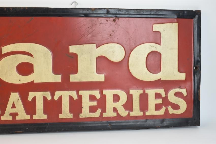 Willard Batteries Advertisement Sign, 4 1/2' x 1' - 4