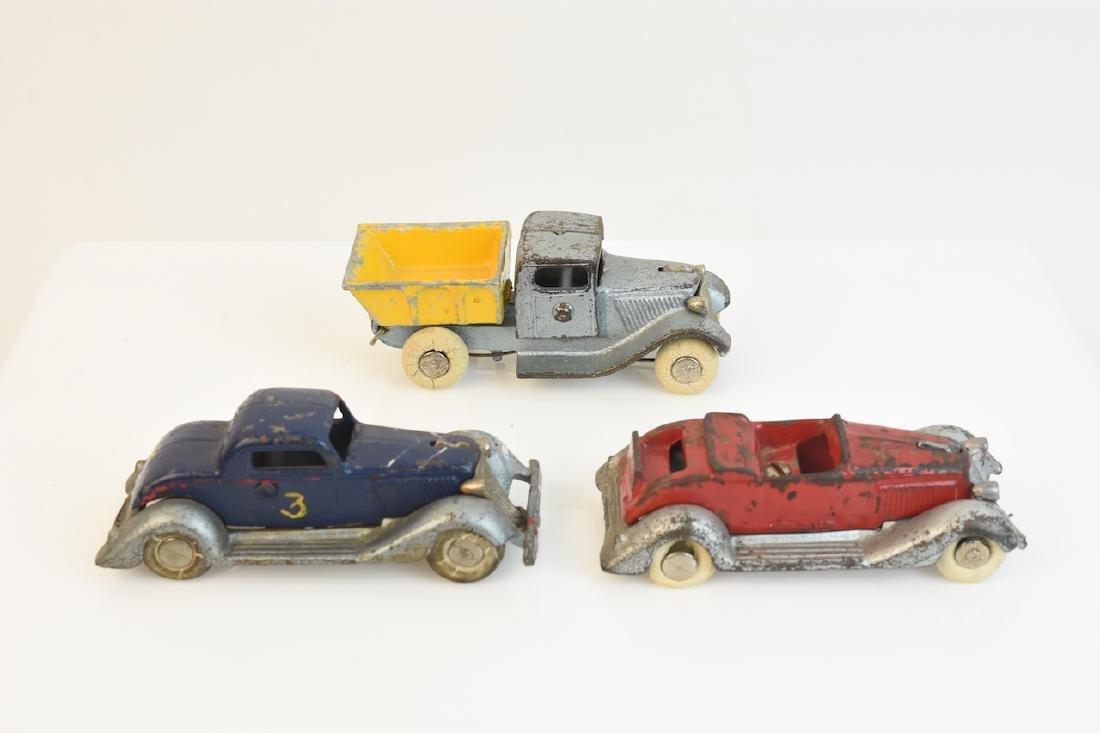 (3) Cast Iron Die Cast Graham Toy Cars
