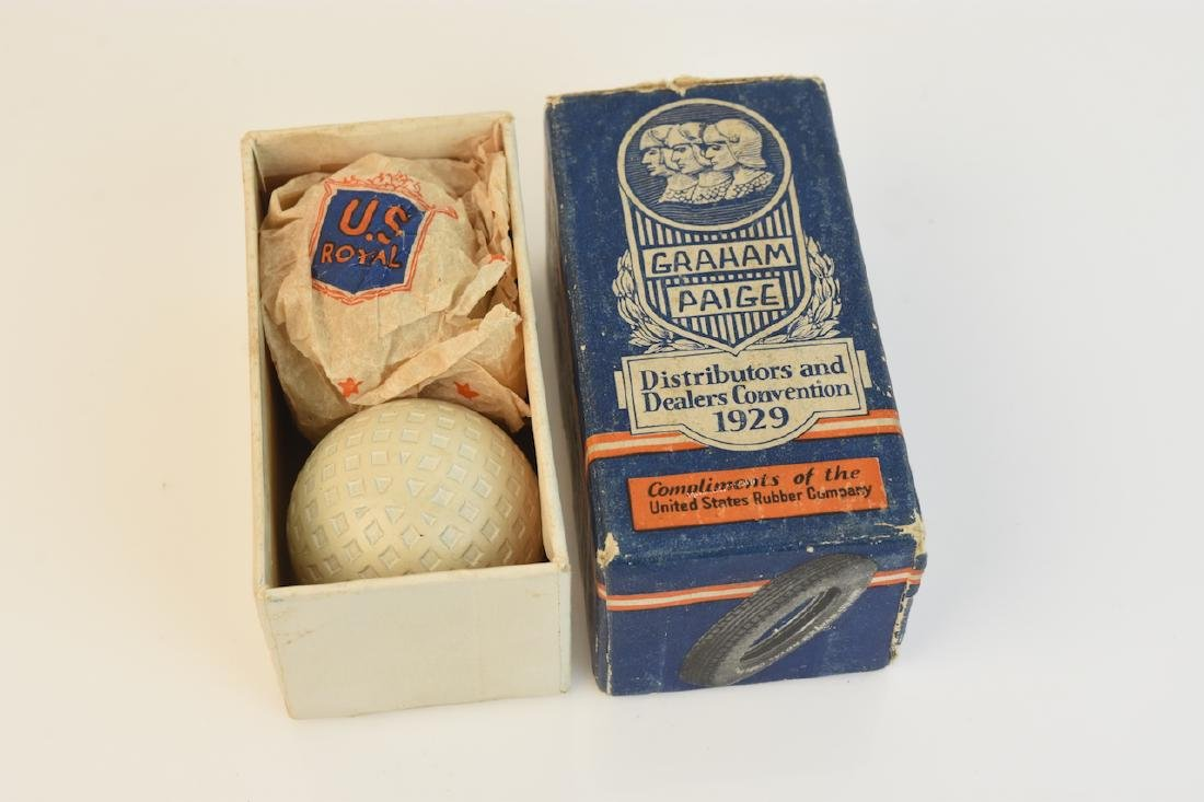 Graham Paige 1929 Promotional Mesh Golf Balls, OB