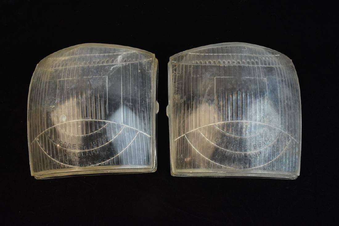 Pair of Graham Sharknose Headlight Lenses