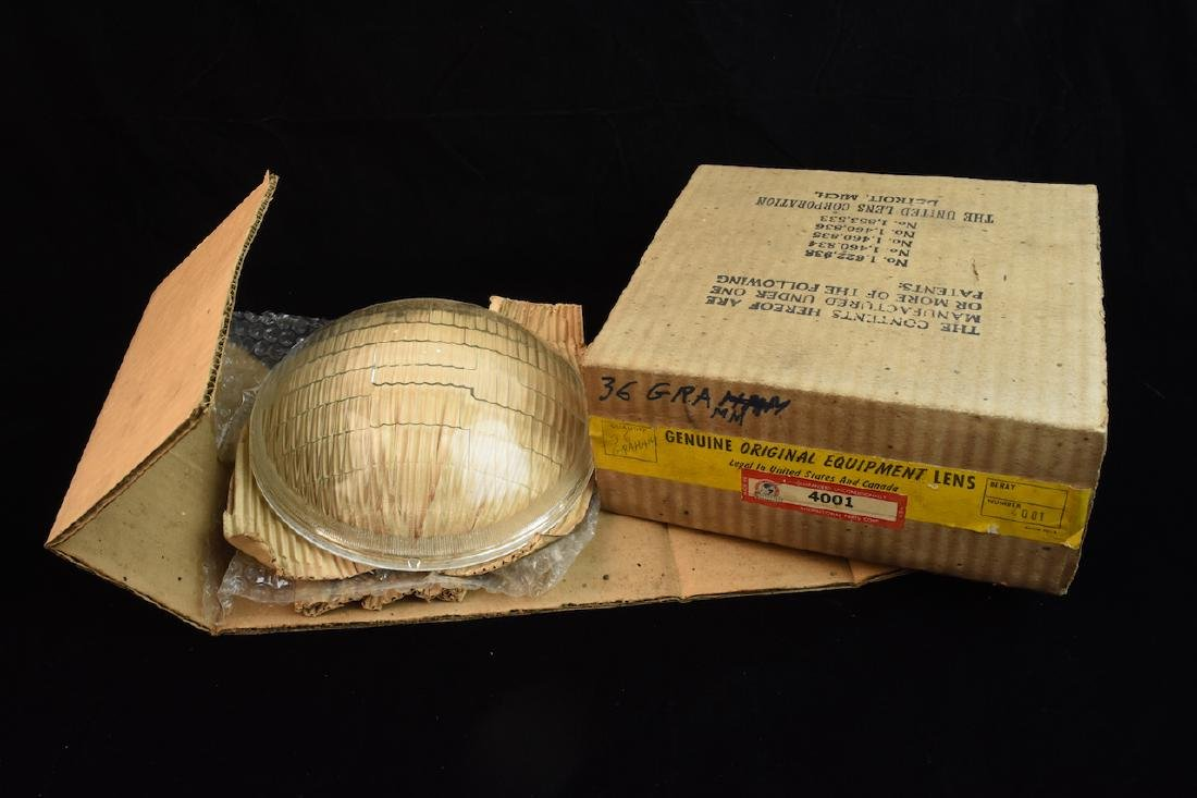 (2) New Old Stock '36 Graham Head Light Lens