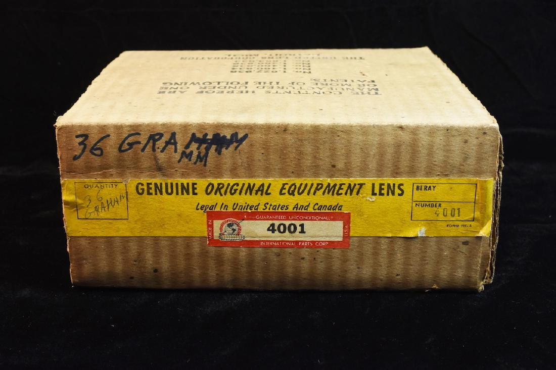(2) New Old Stock '36 Graham Head Light Lens - 4