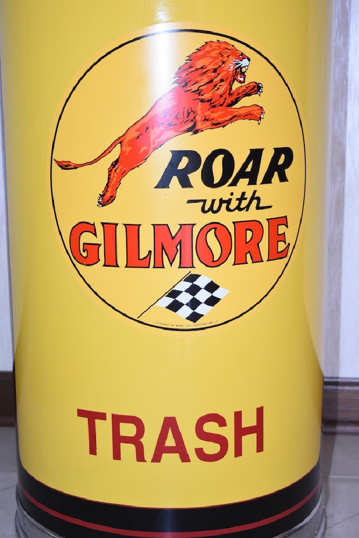 Restored Gilmore Gasoline Trash Can, Mobil Oil Corp. - 2
