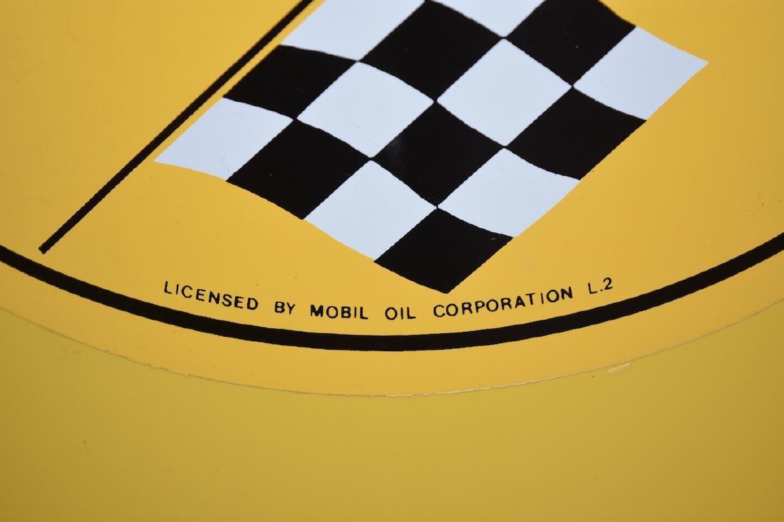 Restored Gilmore Gasoline Trash Can, Mobil Oil Corp. - 3