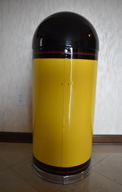 Restored Gilmore Gasoline Trash Can, Mobil Oil Corp. - 4