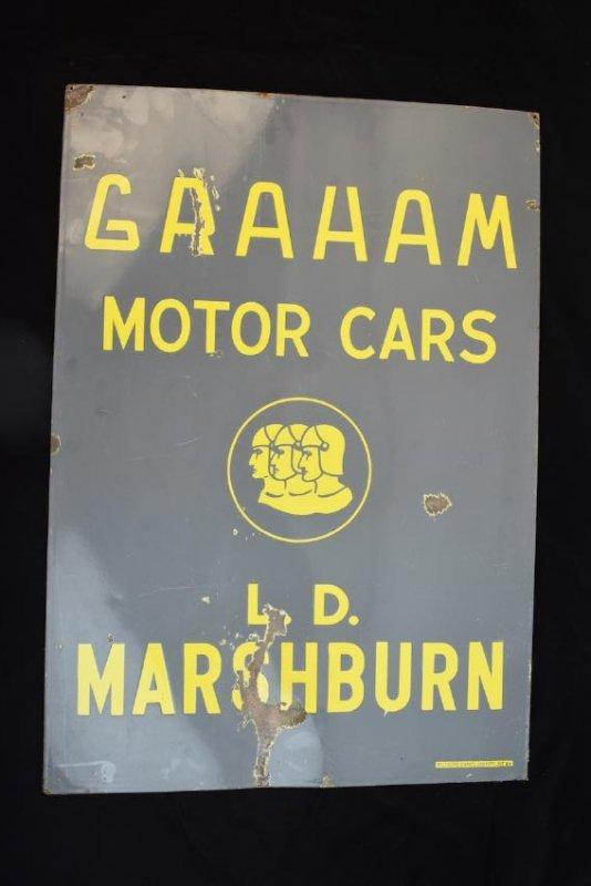 RARE Graham Motor Cars Enamel Sign