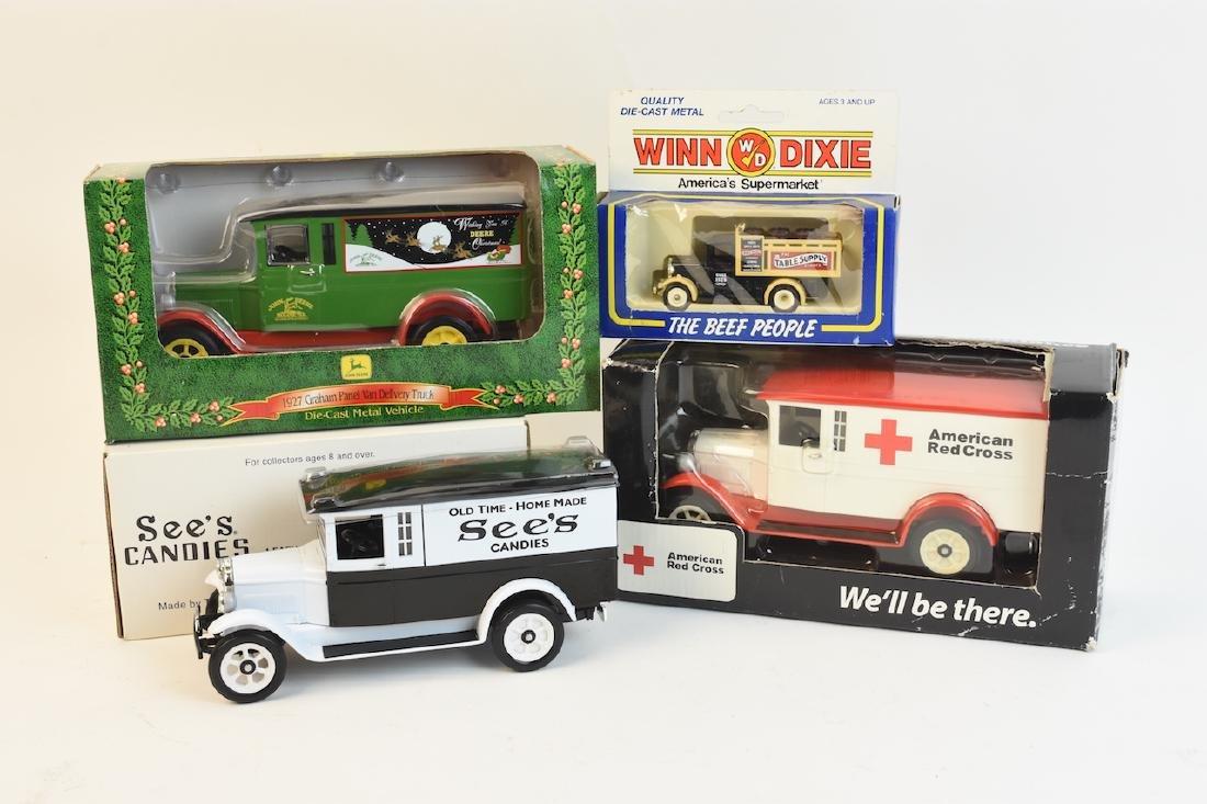 (4) Graham Brothers Die Cast Trucks