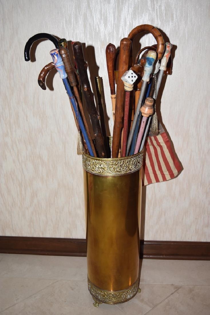 Assortment of Canes & Walking Sticks