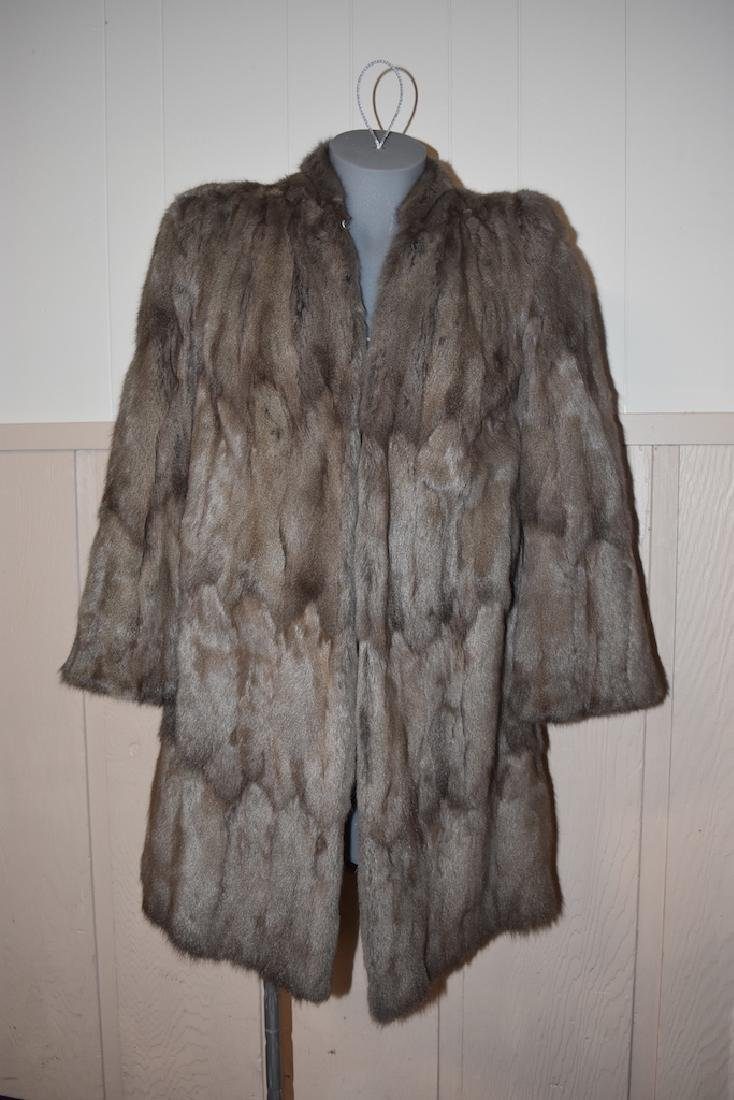 Knee Length Fur Coat by The Royal Furriers