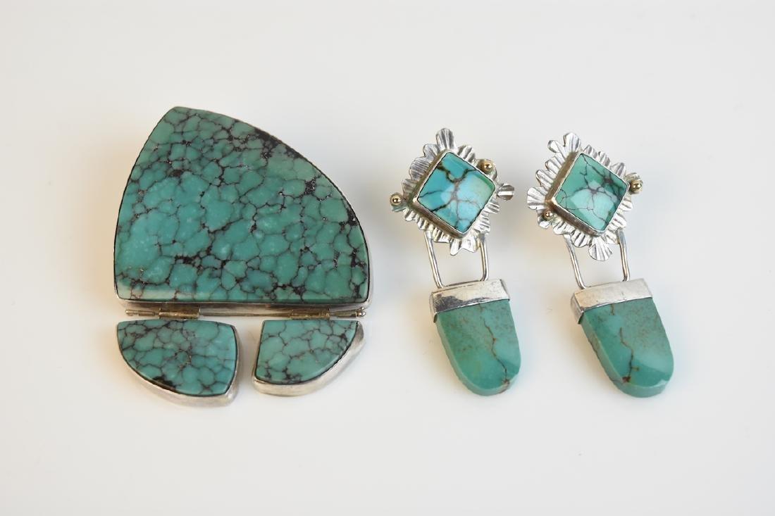 Fran & Jerry Harr Earrings & Pendant; signed