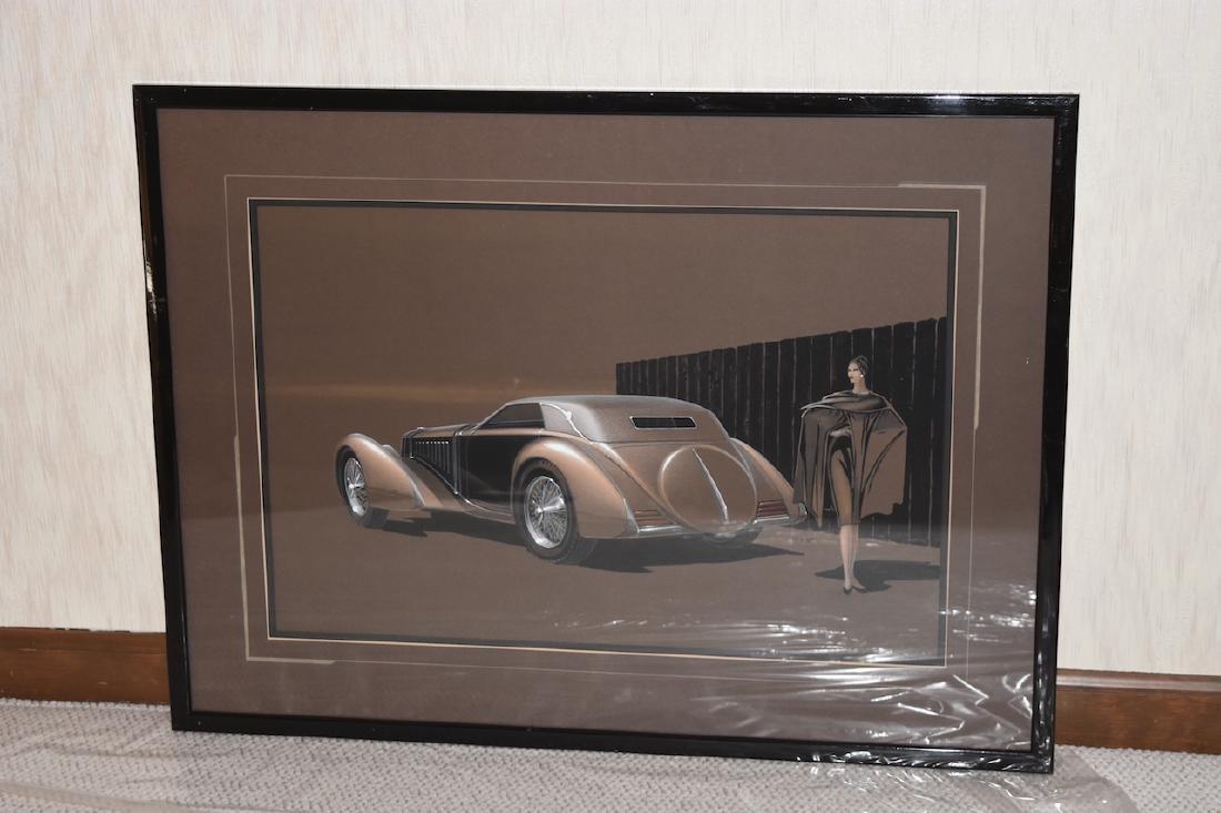 Artist Classic Car Concept Print