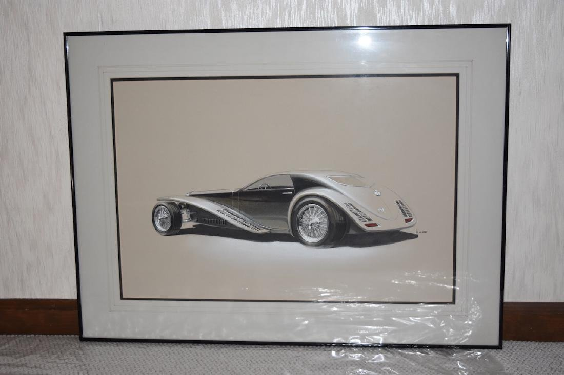 Artist Concept Car Print of Classic Car