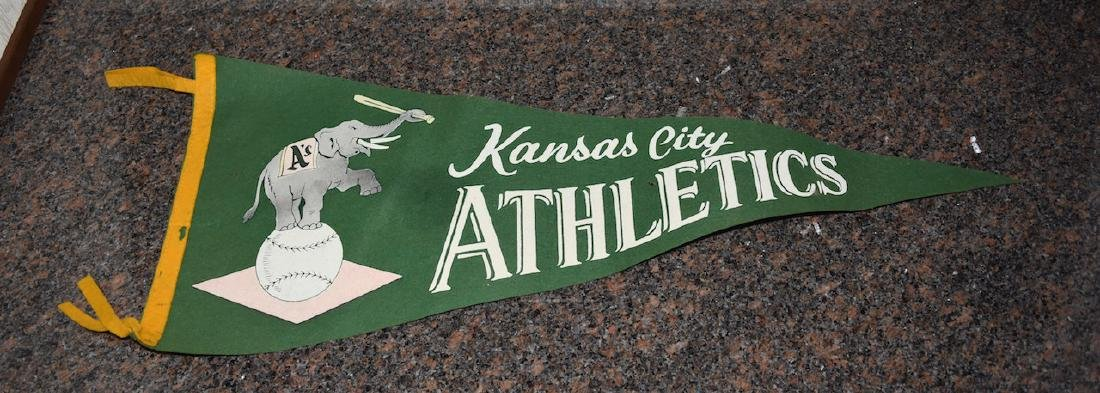 1950's Kansas City Athletics Baseball Pennant