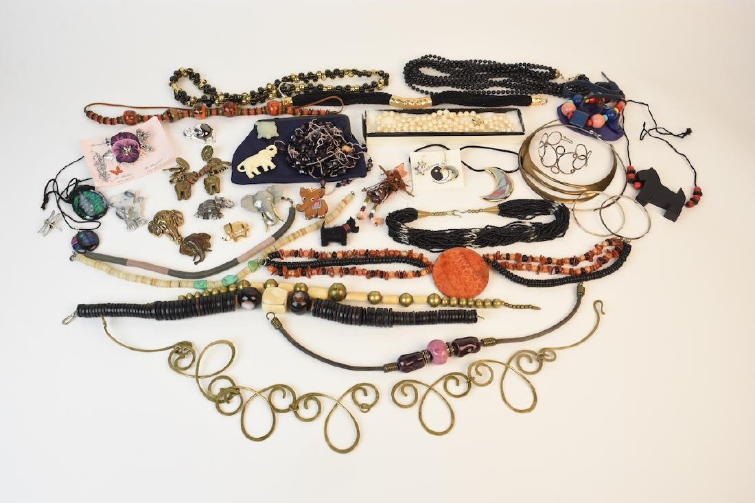 Costume & Sterling Jewelry, Hand Painted Beads