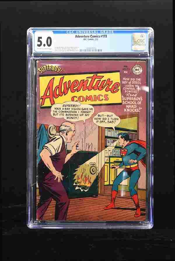 1952 Adventure Comics #173 CGC 5.0