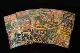 (11) Marvel Comic Books; Mixed Sgt. Fury Titles