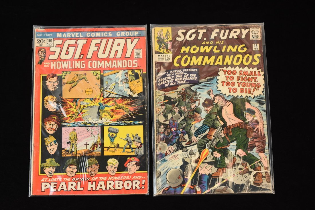 (11) Marvel Comic Books; Mixed Sgt. Fury Titles - 5