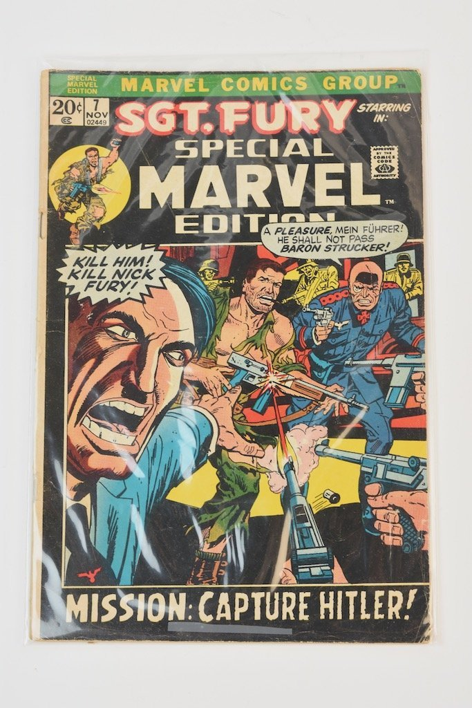 (11) Marvel Comic Books; Mixed Sgt. Fury Titles - 7