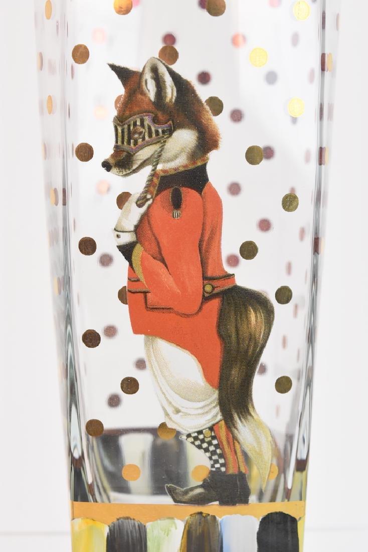 (6) MacKenzie Childs Sly Foxworthy Glasses - 9