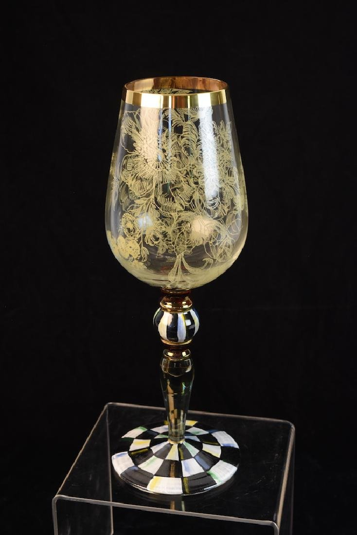 MacKenzie Childs Blooming Wine Glasses - 5
