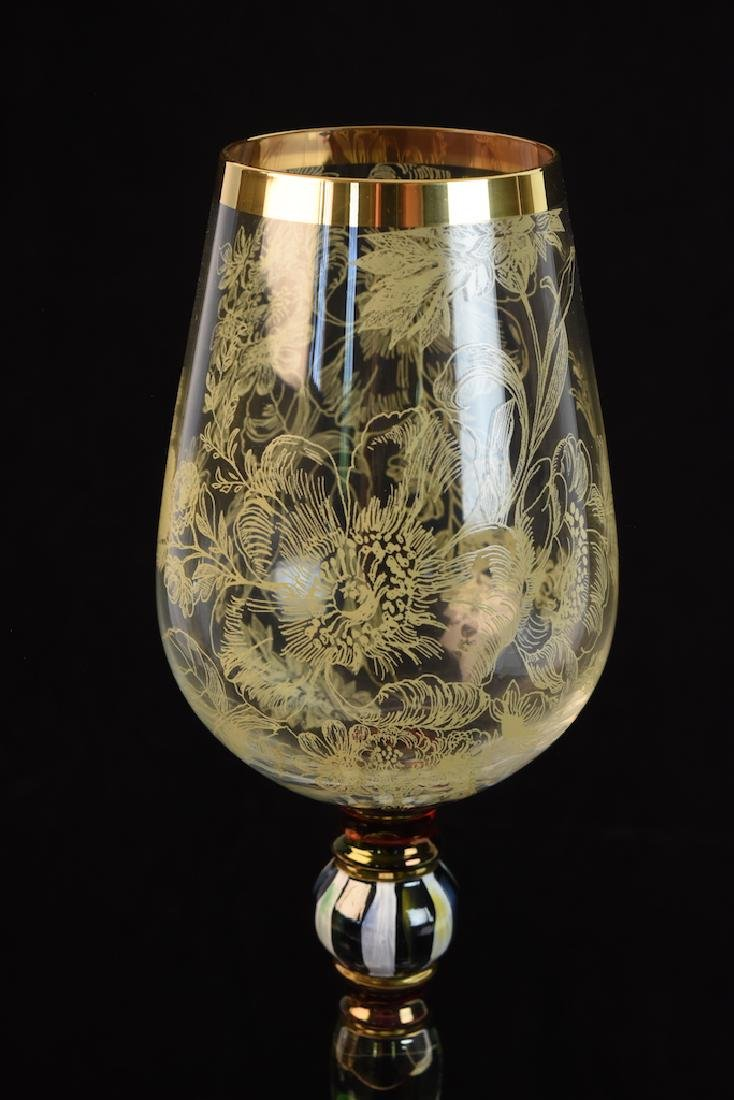 MacKenzie Childs Blooming Wine Glasses - 7