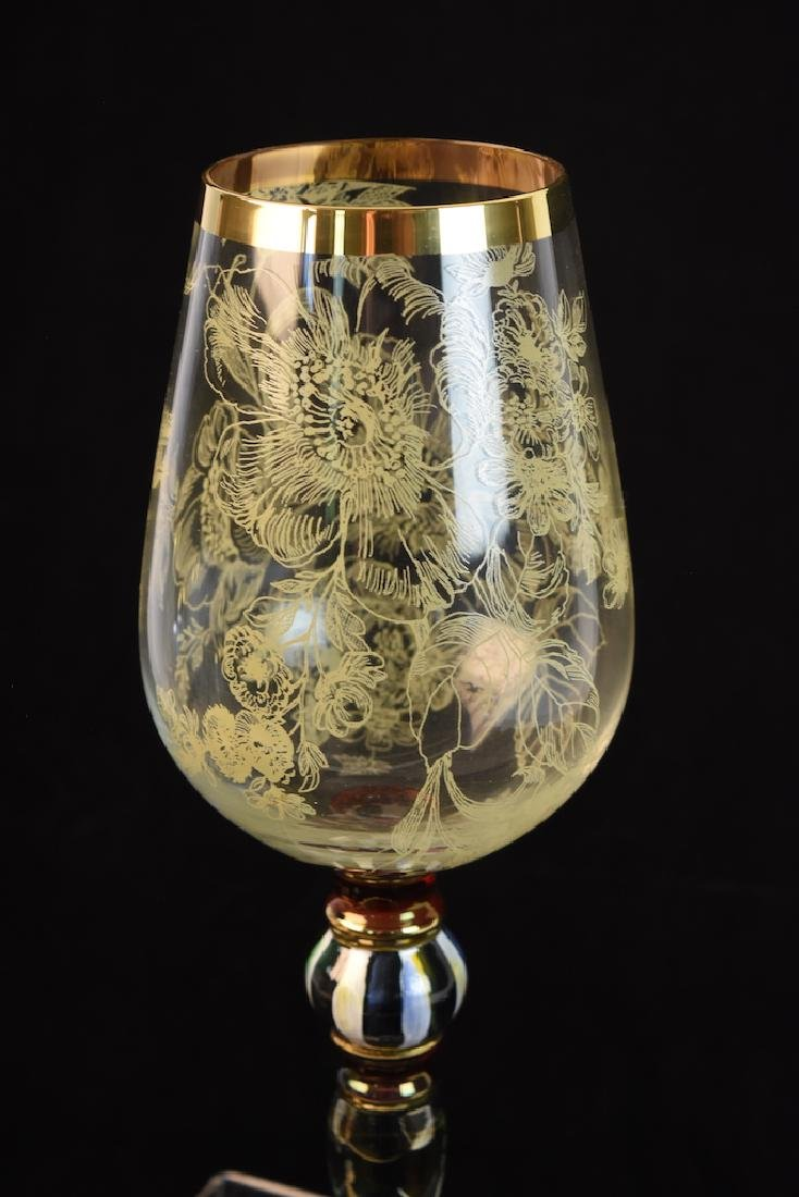 MacKenzie Childs Blooming Wine Glasses - 8