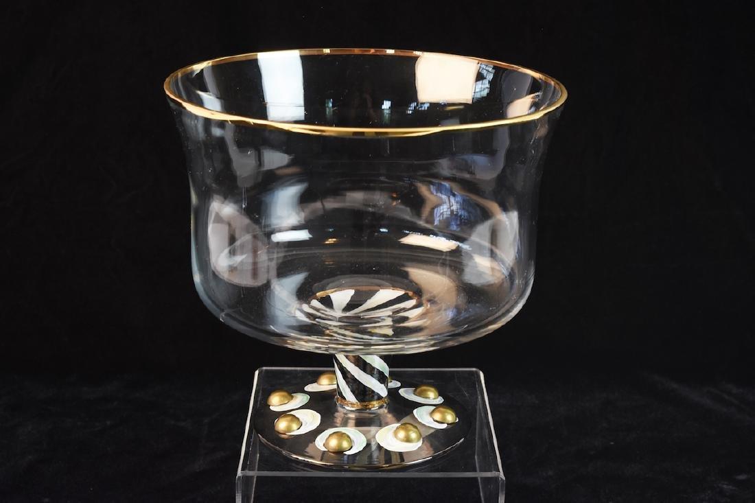 MacKenzie Childs Hand Painted Trifle Bowl