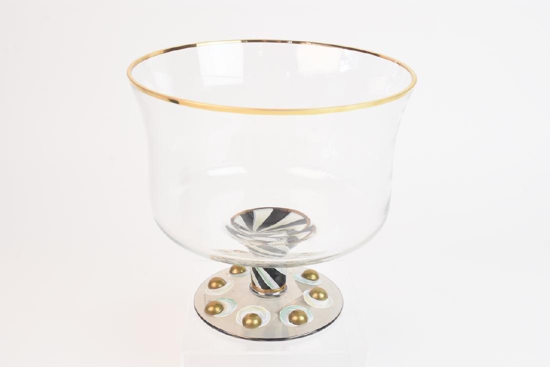 MacKenzie Childs Hand Painted Trifle Bowl - 5