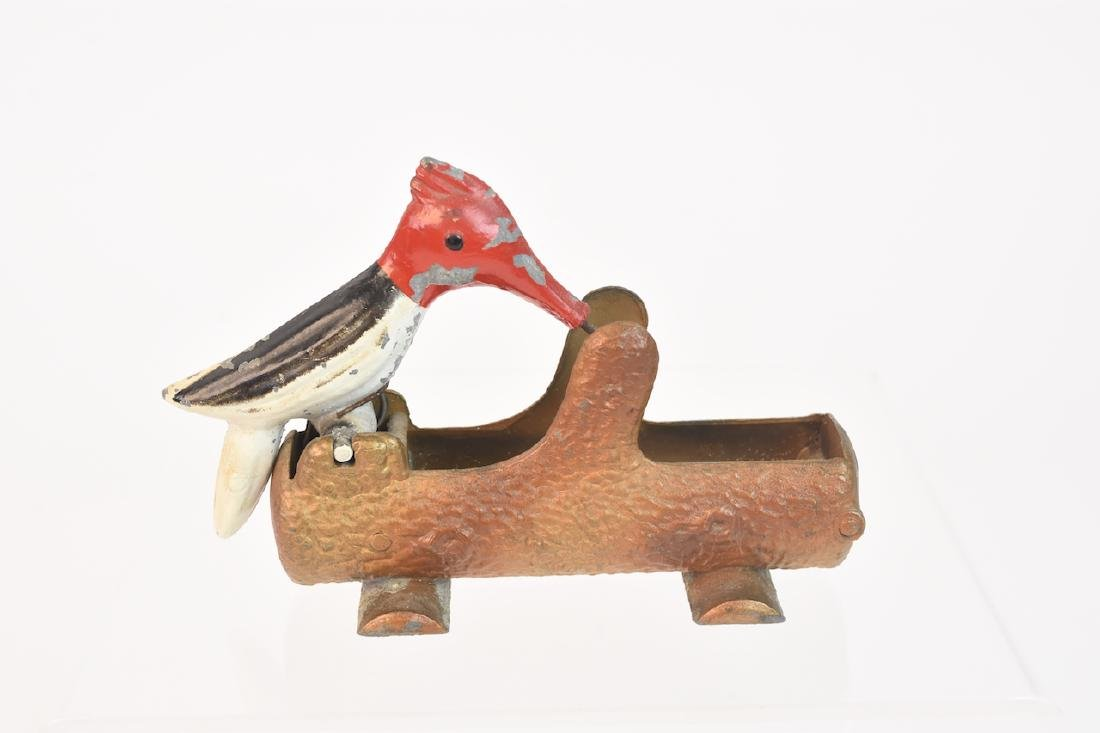 Vintage Cast Metal Woodpecker Toothpick Dispenser - 2