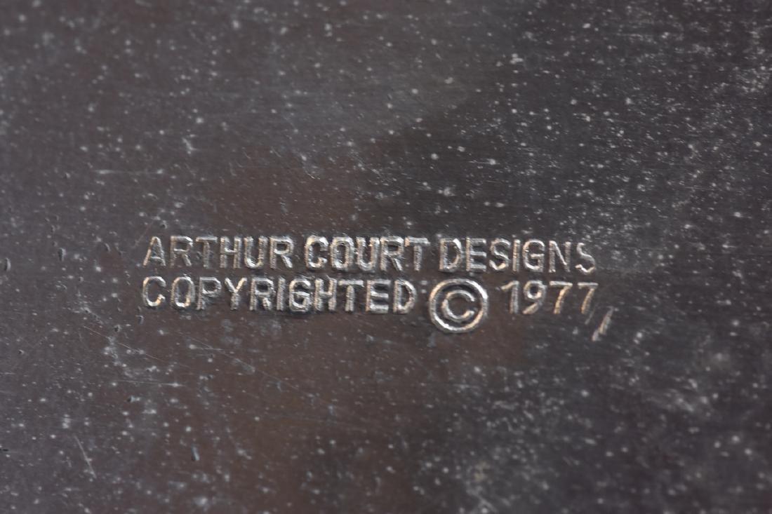 Arthur Court Aluminum Chicken Tureen c. 1977 - 4