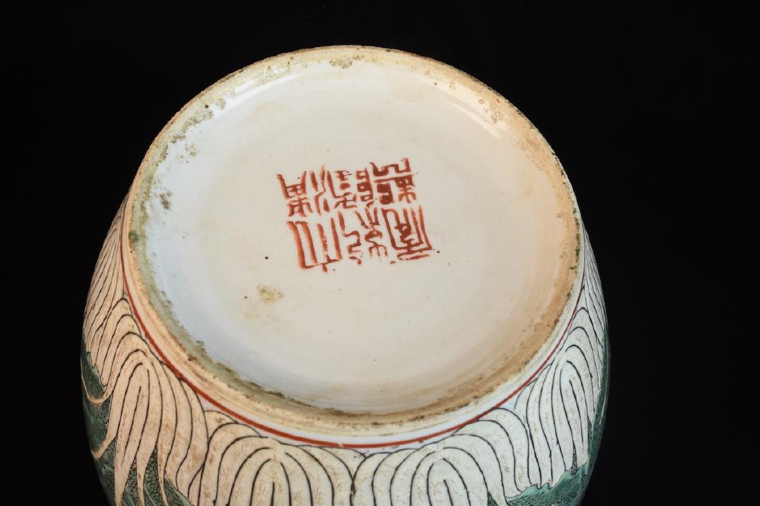 Pair of Lidded Antique Asian Melon Jars - 8