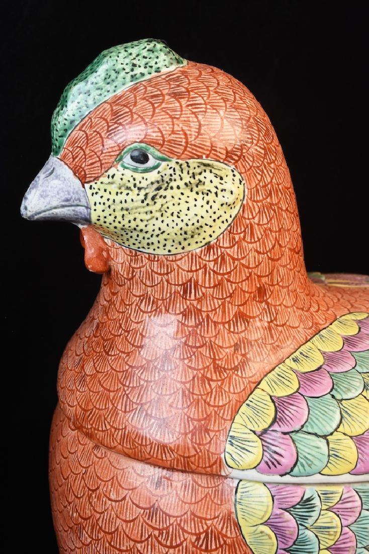 Large Antique Porcelain Chicken Tureen - 9