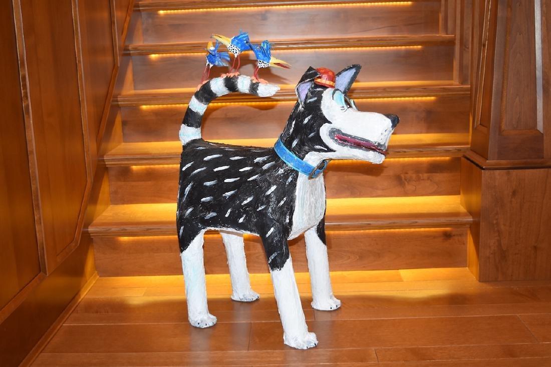 Joyce Curvin Zany Recycled Dog Sculpture - 2