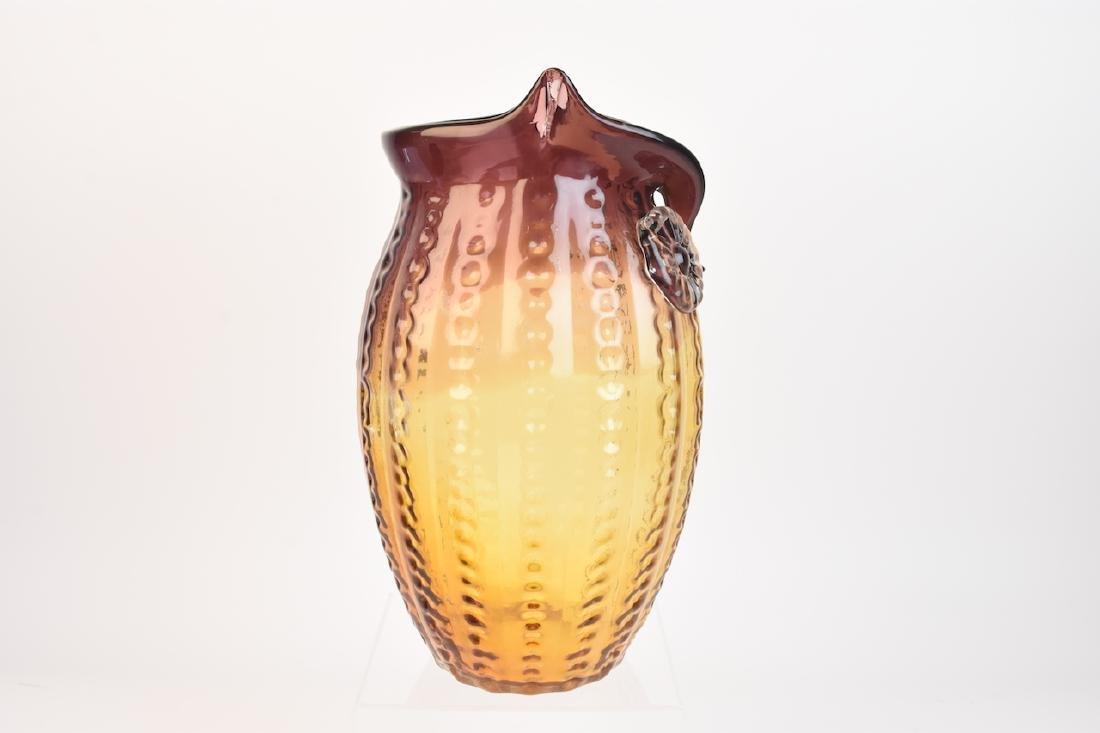 Owl Shaped Art Glass Vase - 3