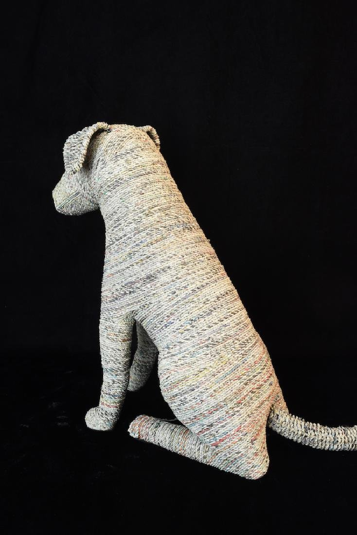 """Recycled Newspaper Dogs """"Rascal & Rover"""" - 6"""