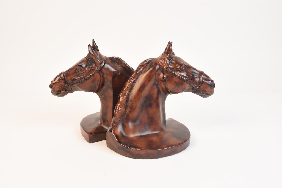 Horse Head Equestrian Bookends, USA Made