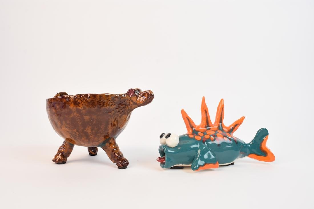 Unusual Art Pottery Characters; signed